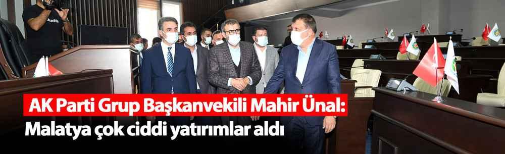 AK Parti Grup Başkanvekili Mahir Ünal: Malatya Çok Ciddi Yatırımlar Aldı